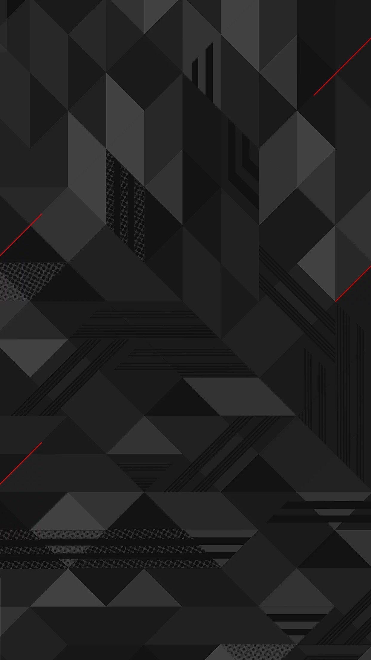 Dark Abstract Triangle Pattern Bw Android wallpaper