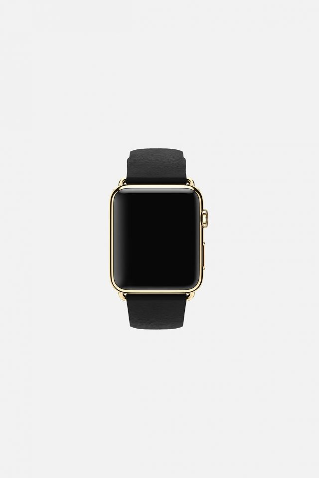 Dark Black Apple Watch Simple Art Android wallpaper