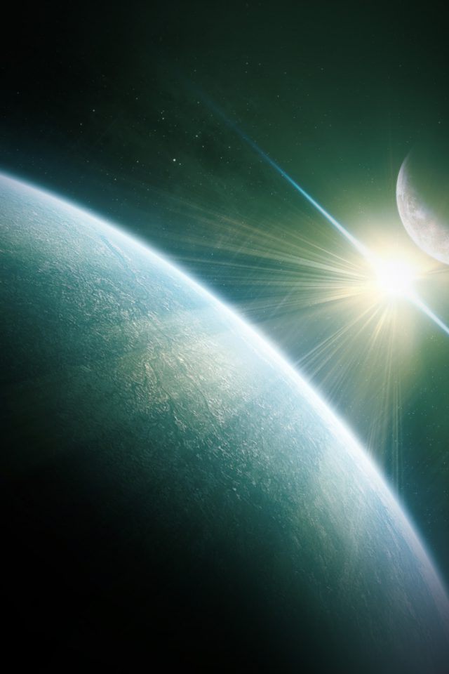 Dark Space World Earth Star Android wallpaper
