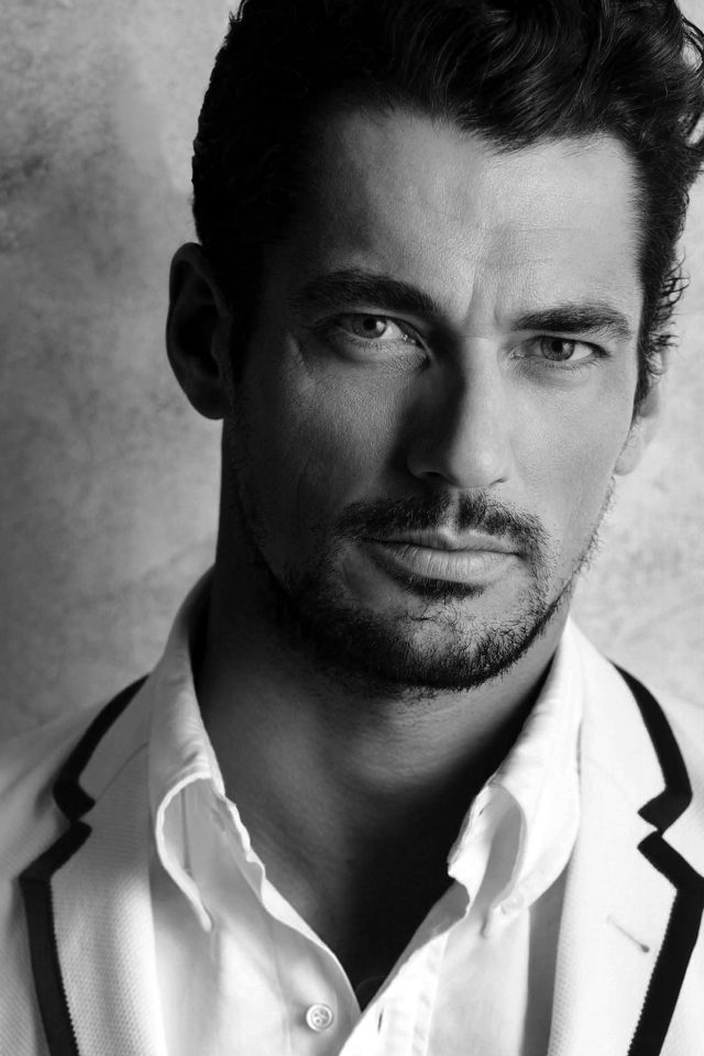 David Gandy Handsome Model Bw Dark Android wallpaper