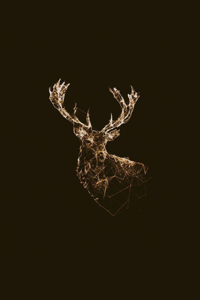 Deer Animal Illust Choco Android Wallpaper