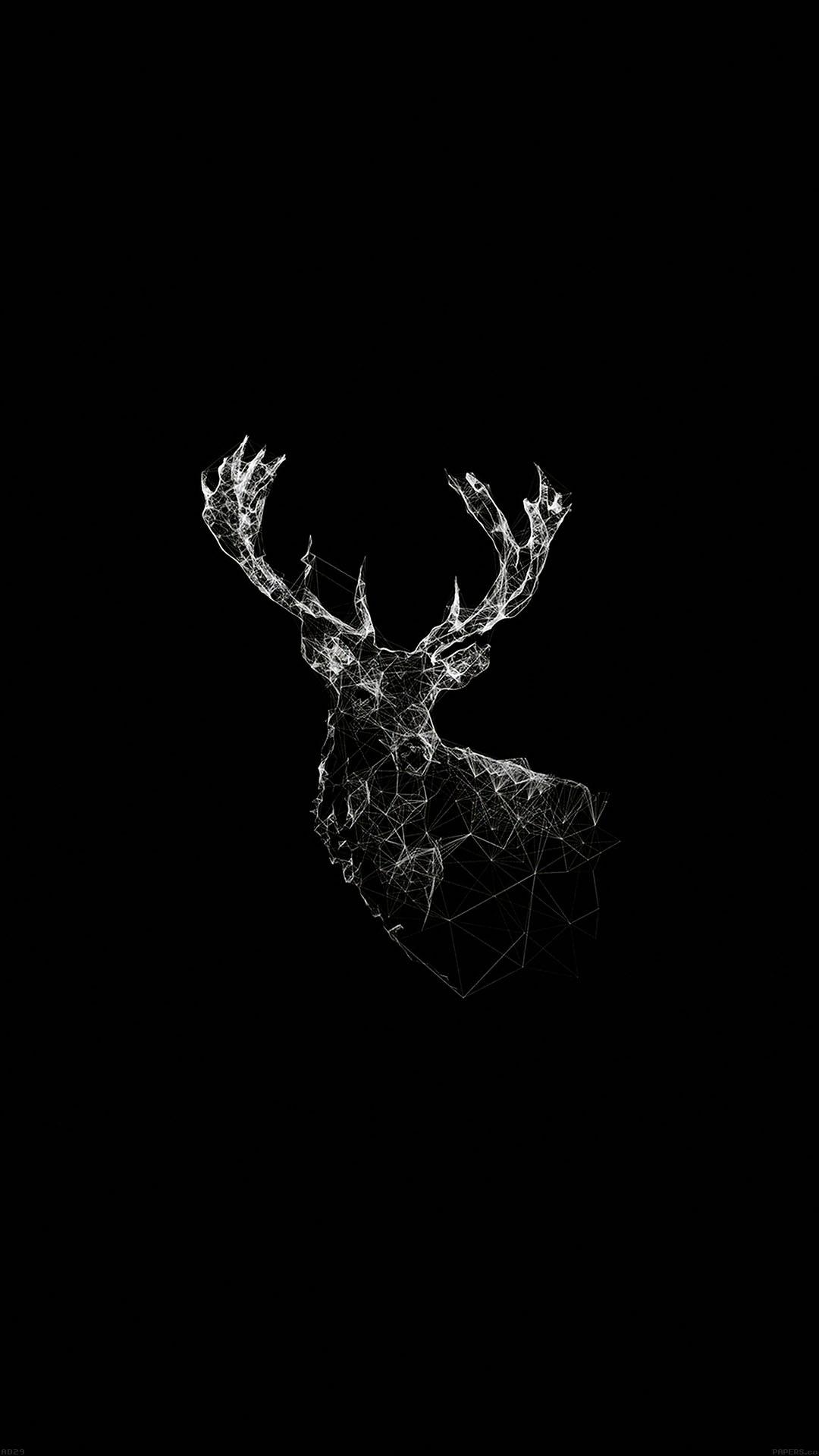 Deer animal illust dark android wallpaper android hd wallpapers - Hunting wallpaper for android ...