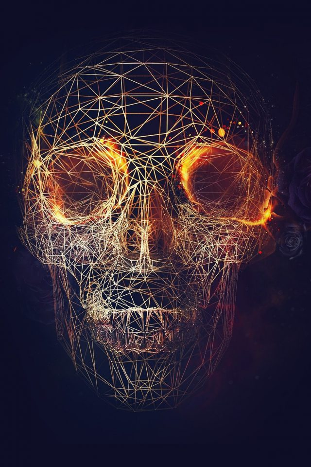 Digital Skull Dark Abstract Art Illustration Android wallpaper