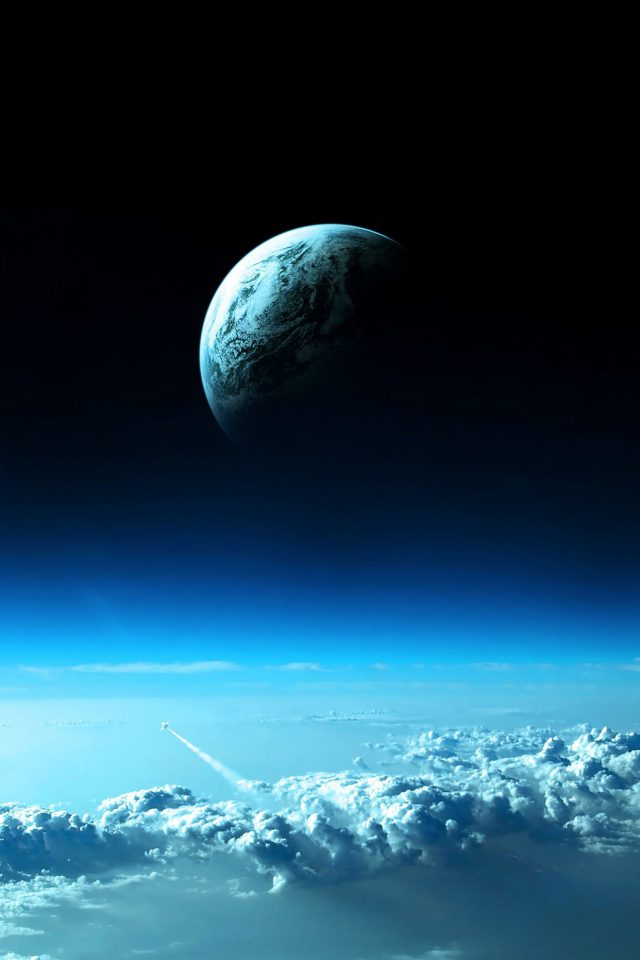 Earth View From Earth Space Android wallpaper