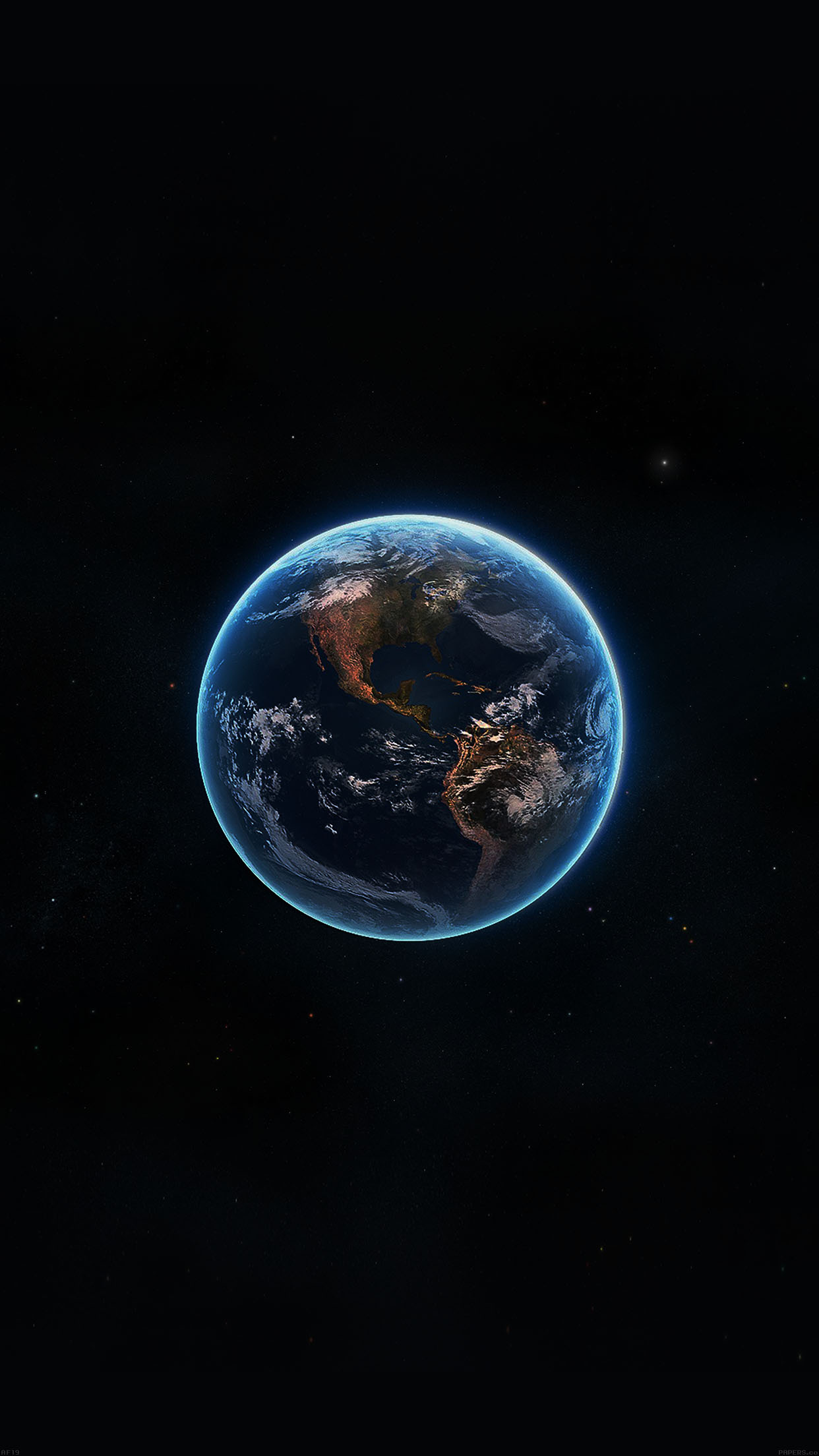 Earth View From Space Amazing Satellite Illust Art Android ...