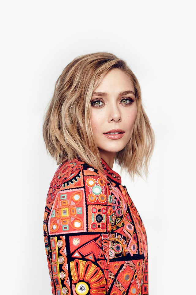 Elizabeth Olsen Stellar Magazine Art Celebrity Android wallpaper