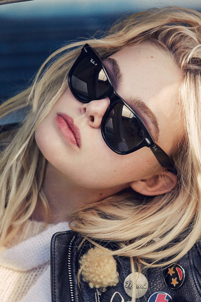 Elle Fanning Model Glasses Cute Android wallpaper