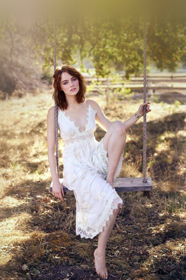 Emma Stone Spring Celebrity Android wallpaper