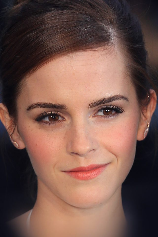 Emma Watson Smile Face Sexy Actress Android wallpaper