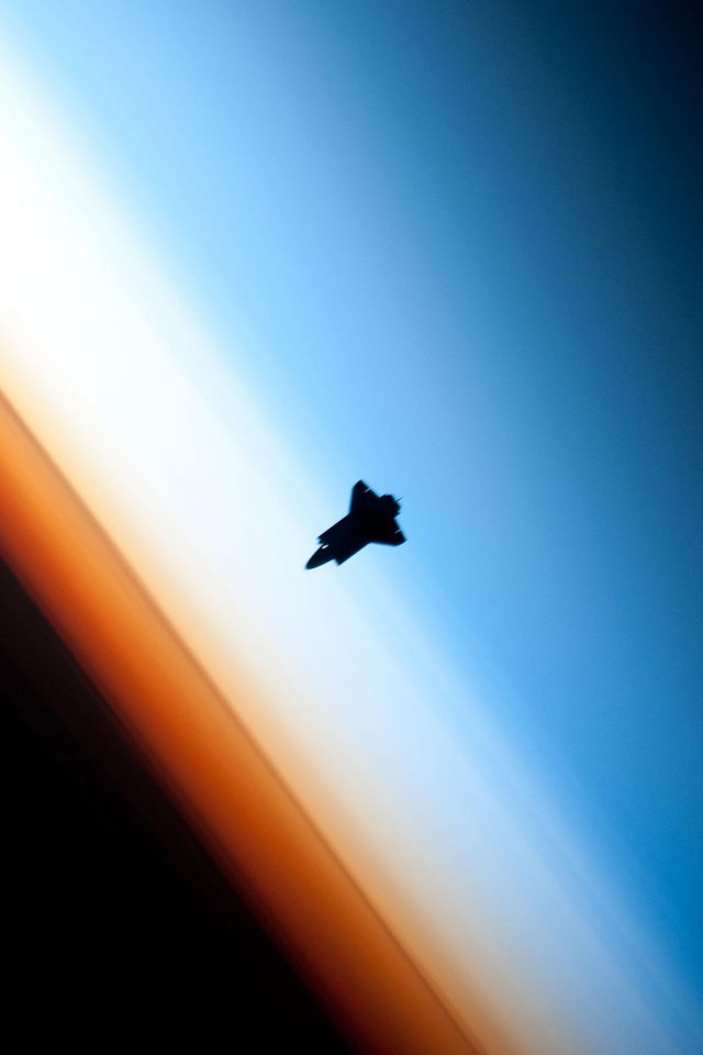 Endeavor Horizon Spaceship From Space Android wallpaper