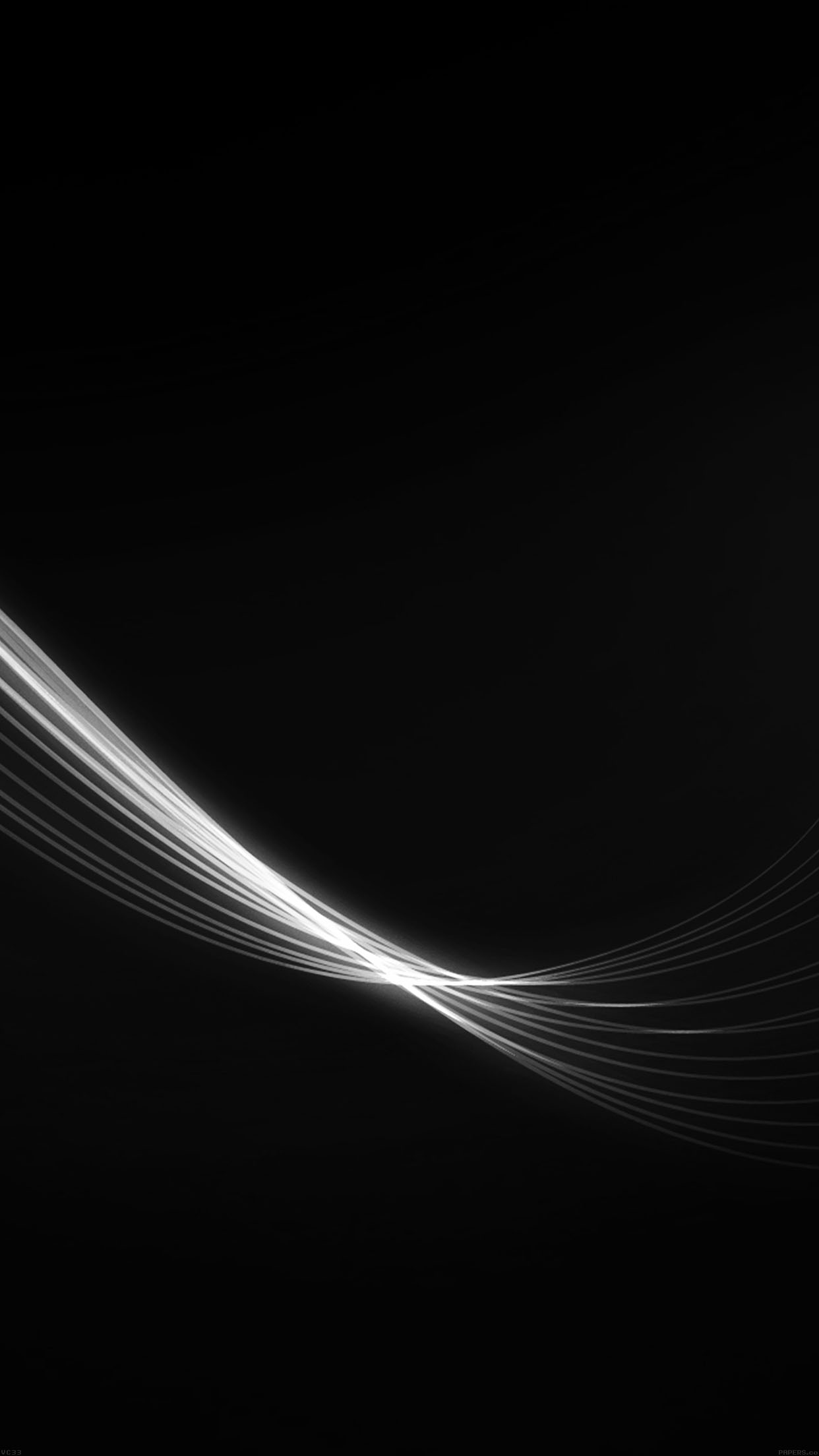 Feather Abstract Black Dark Pattern Android Wallpaper