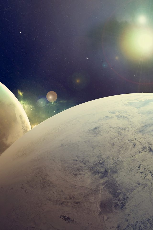 Flare Space Art Dark Planet Nasa Android wallpaper