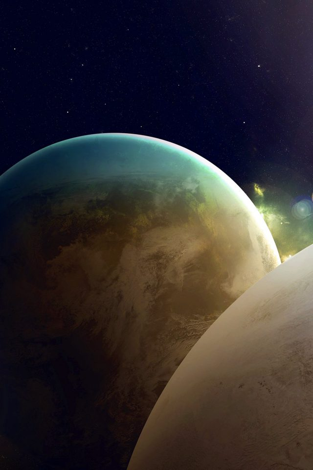 Flare Space Art Dark Planet Nasa Beautiful Android wallpaper