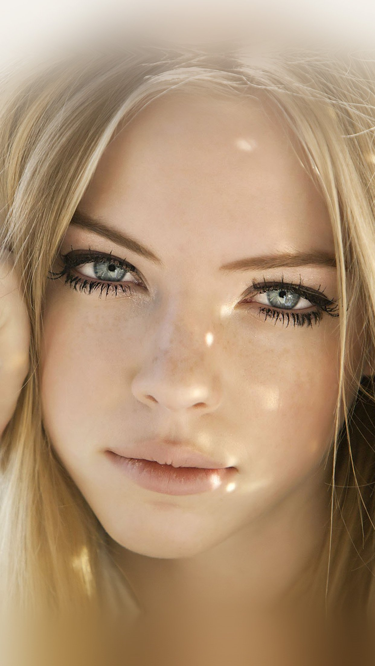 Girl Face Blonde Beauty Android wallpaper