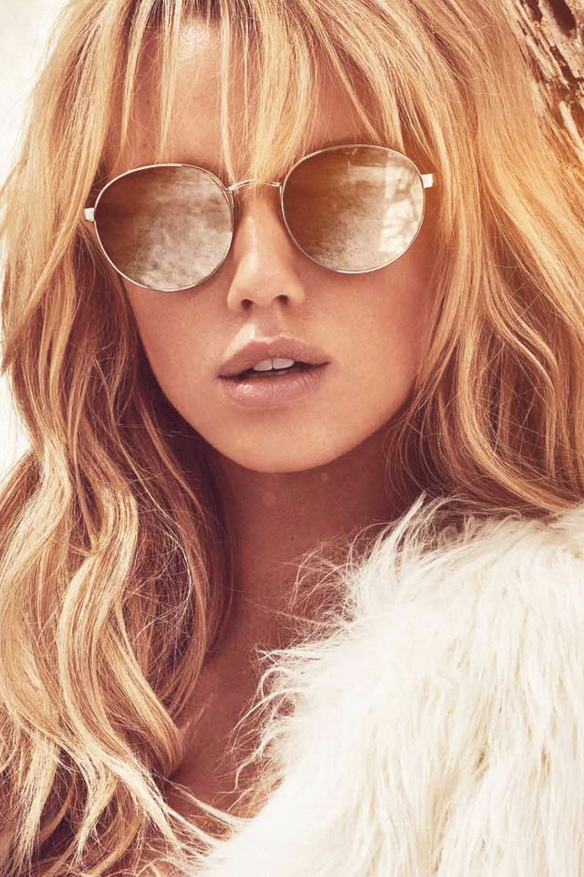 Guess Model Photo Sunglass Android wallpaper