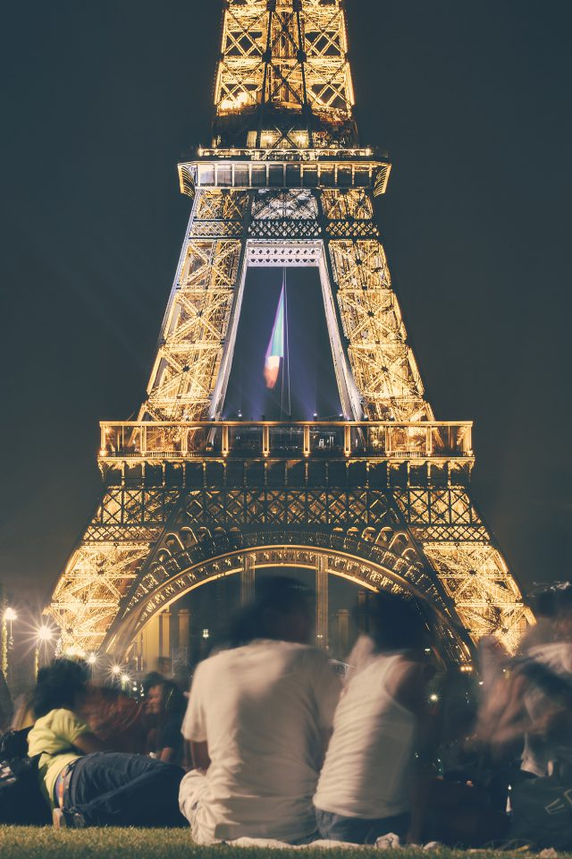 Happy Paris Eiffel Tower France Tour Night City Android wallpaper