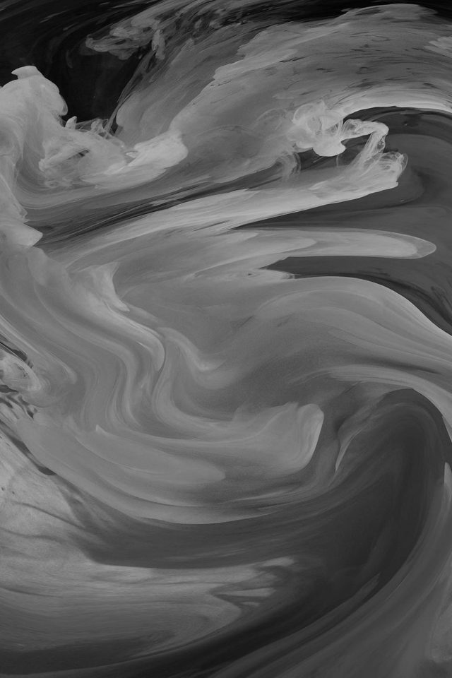 Hurricane Swirl Abstract Art Paint Dark Bw Pattern Android wallpaper