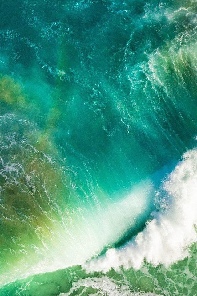 Ios10 Apple Iphone7 Wave Waterfall Official Art Illustration Android wallpaper