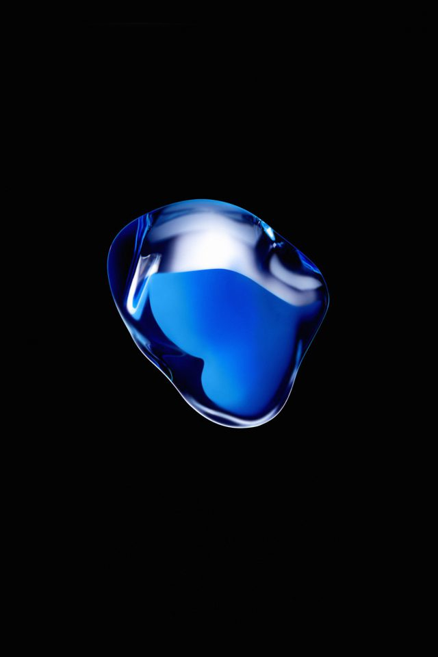 Iphone7 Airpod Blue Dark Art Illustration Apple Android wallpaper