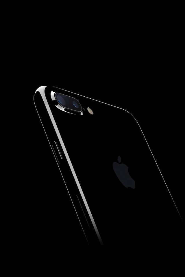 Iphone7 Jetblack Dark Apple Ios10 Art Illustration Android wallpaper
