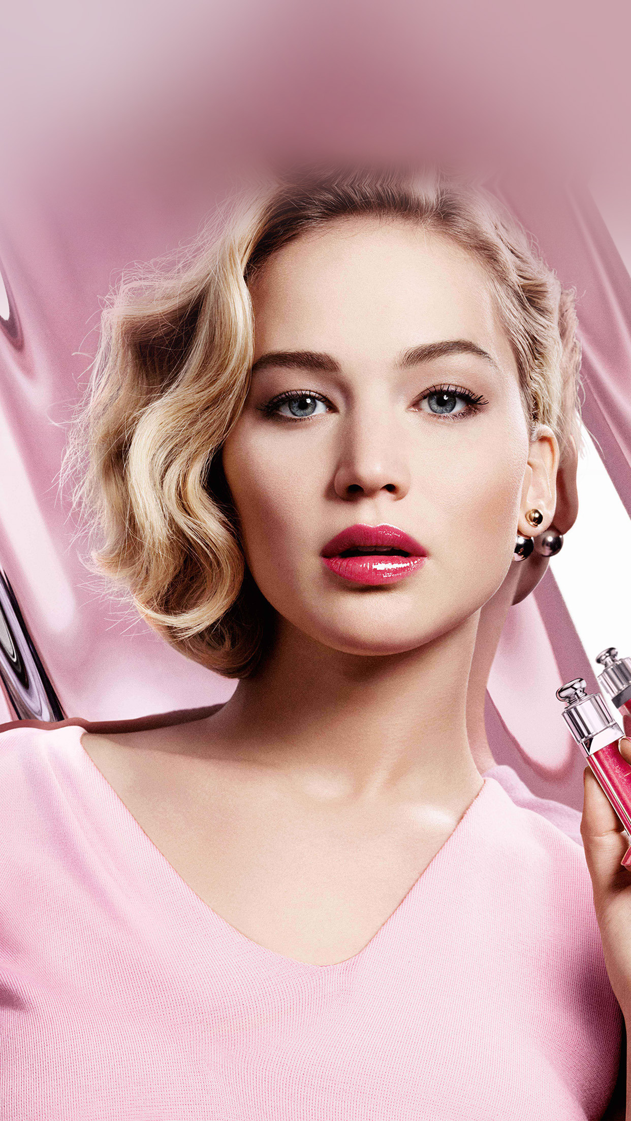 Jennifer Lawrence Pink Model Celebrity Lips Android wallpaper