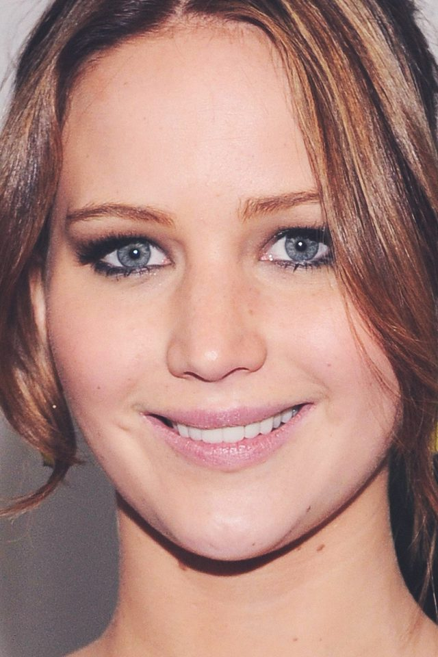Jennifer Lawrence Smile Celebrity Face Android wallpaper