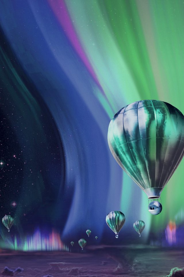 Jupiter Aurora Space Sky Art Illustration Blue Android wallpaper