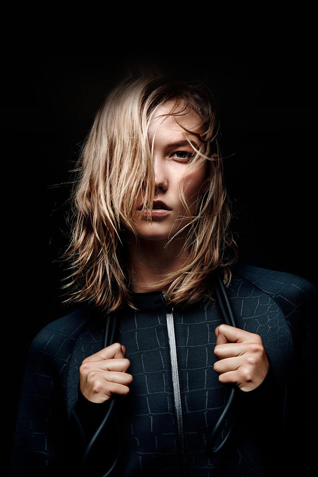 Karlie Kloss Dark Nike Model Android wallpaper