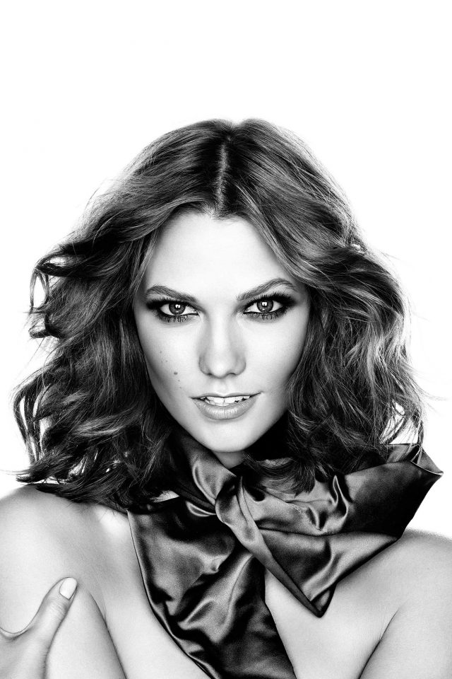 Karlie Kloss Model Bw Present Sexy Android wallpaper