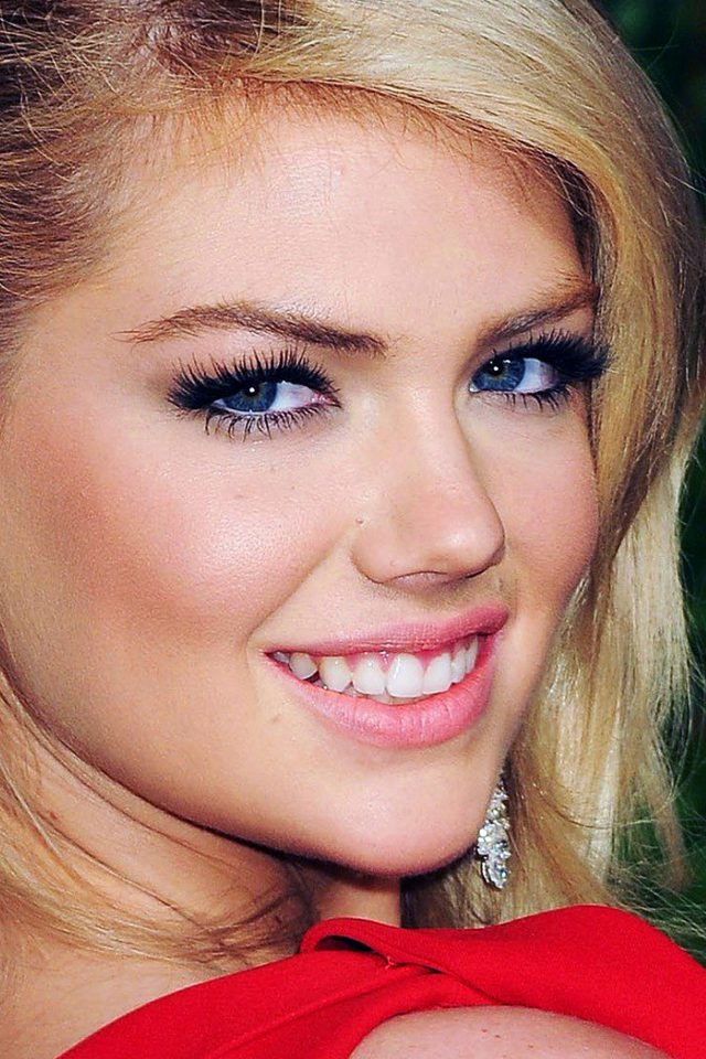 Kate Upton Red Dress Girl Face Android wallpaper