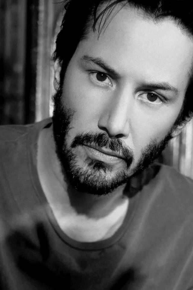 Keanu Reeves Bw Dark Actor Celebrity Android wallpaper
