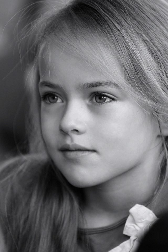 Kristina Pimenova Cute Girl Model Bw Dark Android wallpaper