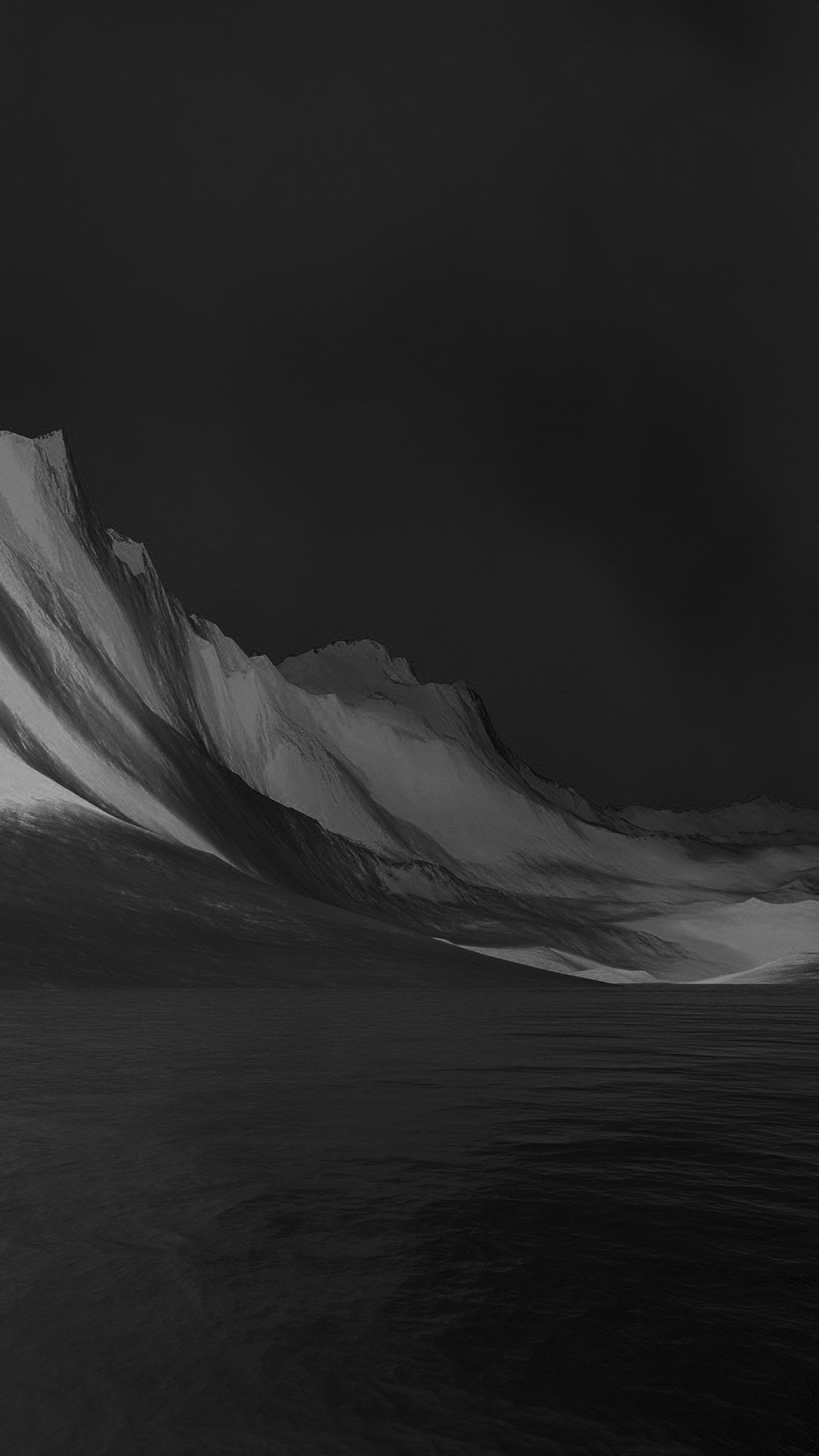 Lg G Flex Art Mountain Digital Bw Dark Black Abstract Android wallpaper