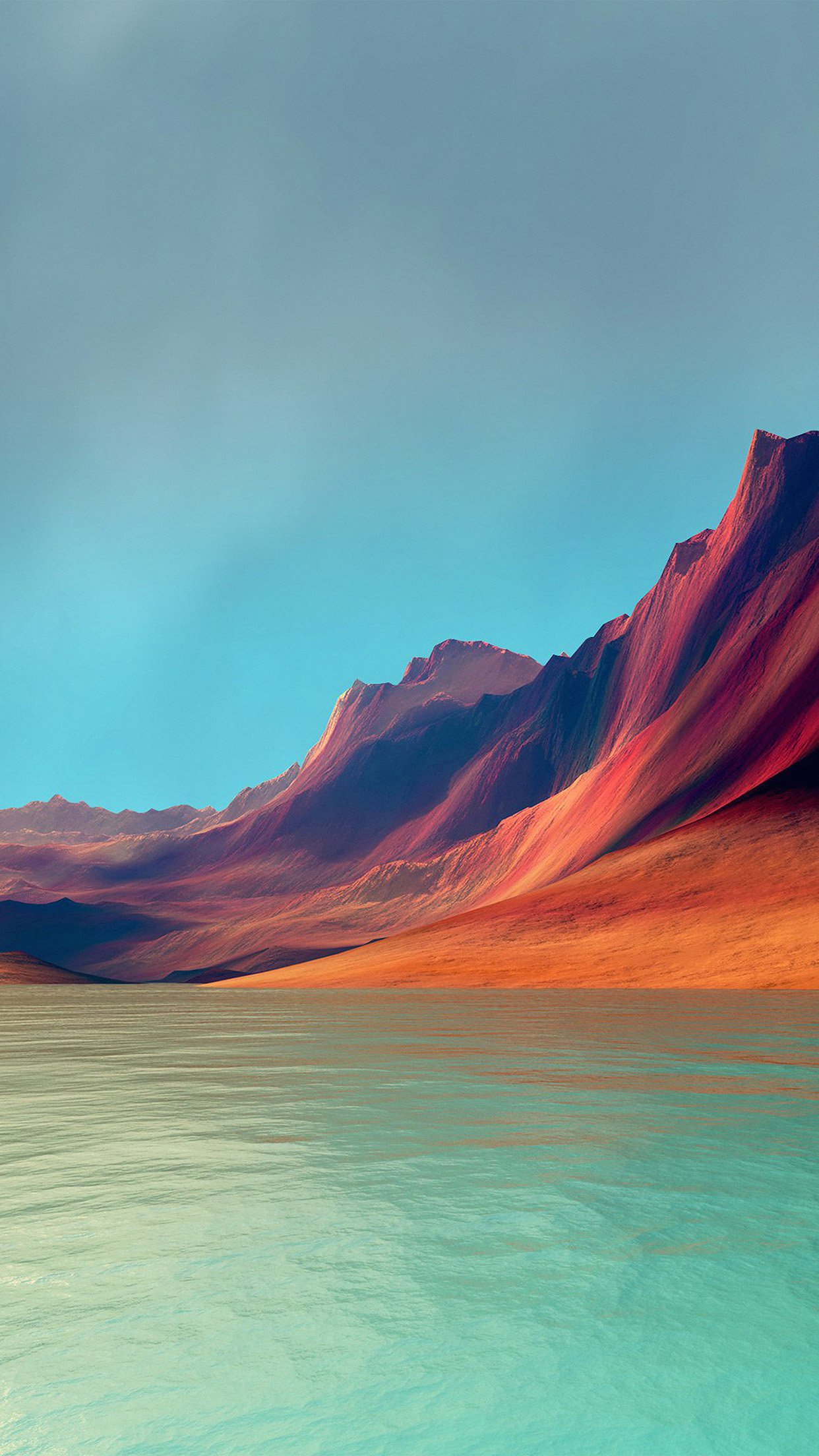 Lg G Flex Art Mountain Digital Red Abstract Android ...