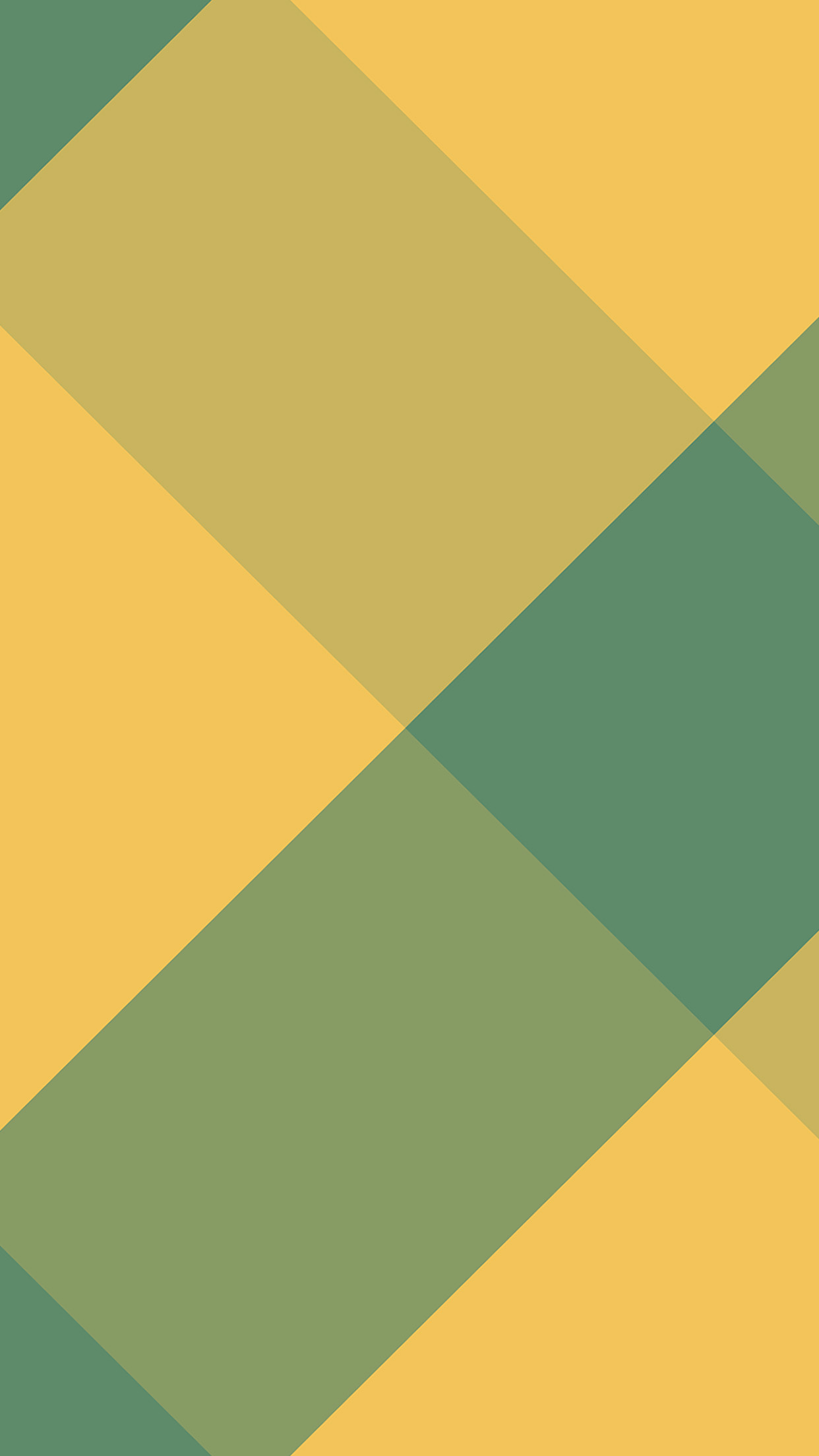 Lines Green Yellow Rectangle Abstract Pattern Android
