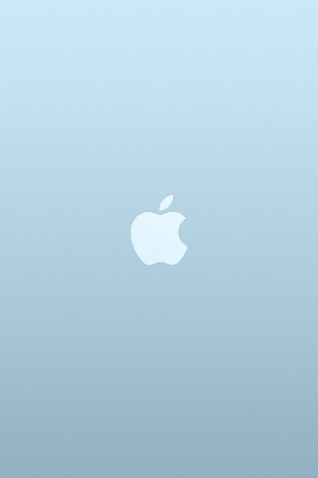 Logo Apple Blue White Minimal Illustration Art Android wallpaper