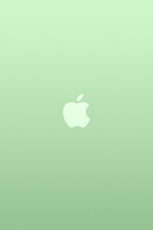 Logo Apple Green White Minimal Illustration Art Color Android wallpaper