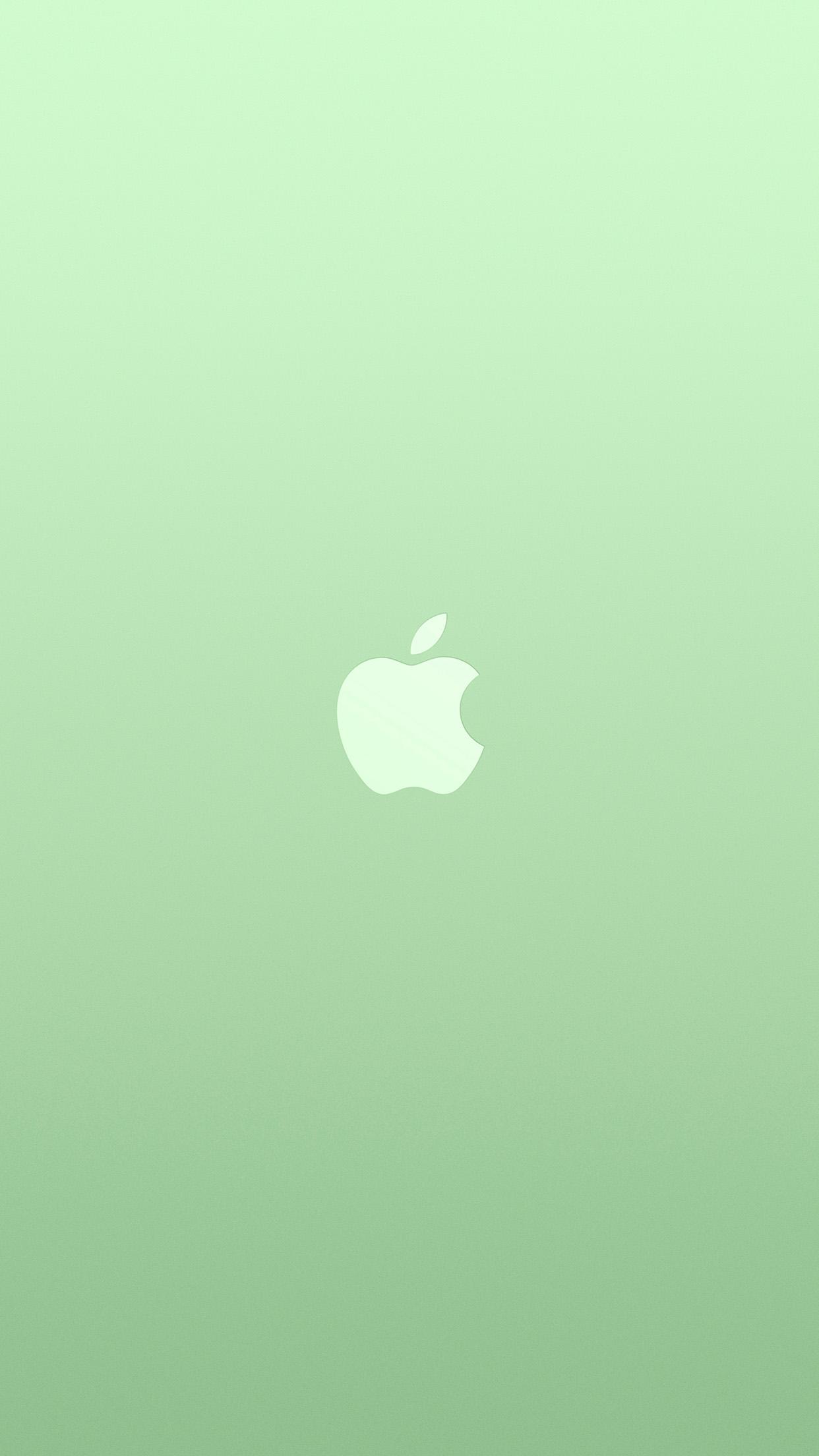 Logo Apple Green White Minimal Illustration Art Color Android
