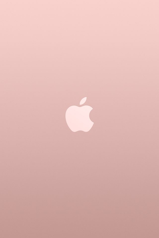 Logo Apple Pink Rose Gold White Minimal Illustration Art Android wallpaper