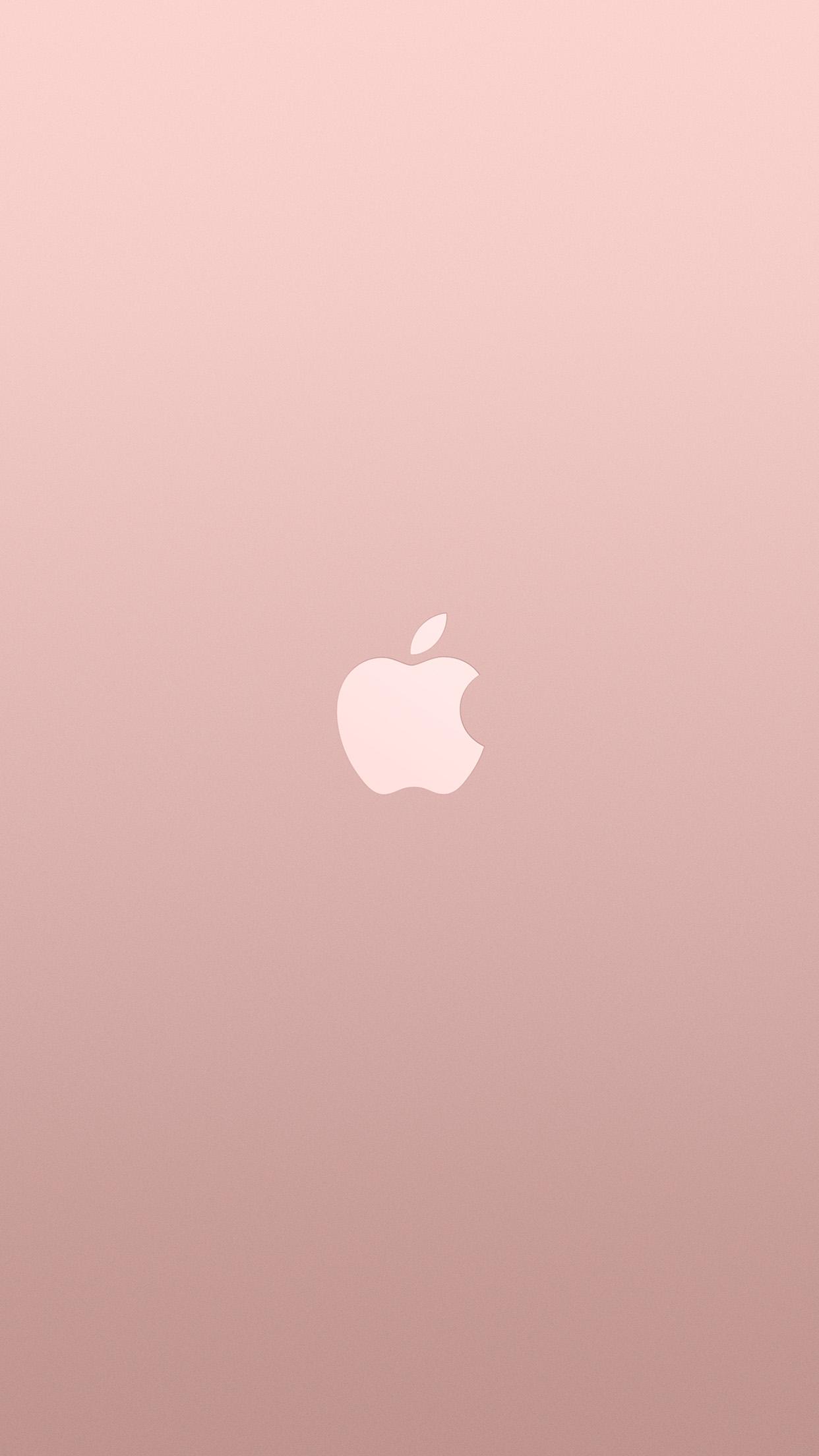 Logo Apple Pink Rose Gold White Minimal Illustration Art Android