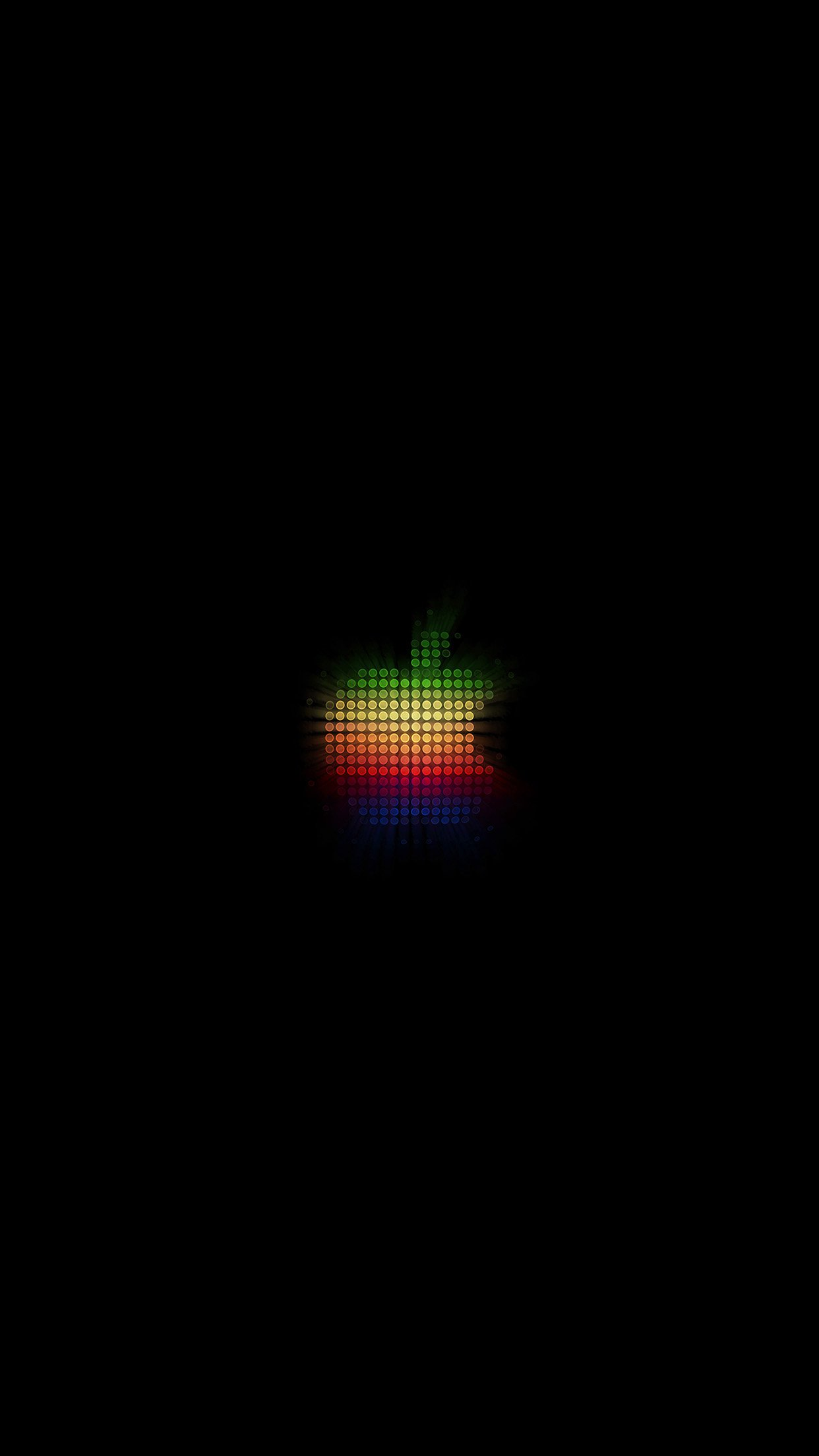 Logo Apple Rainbow Pixel Art Illustration Android Wallpaper