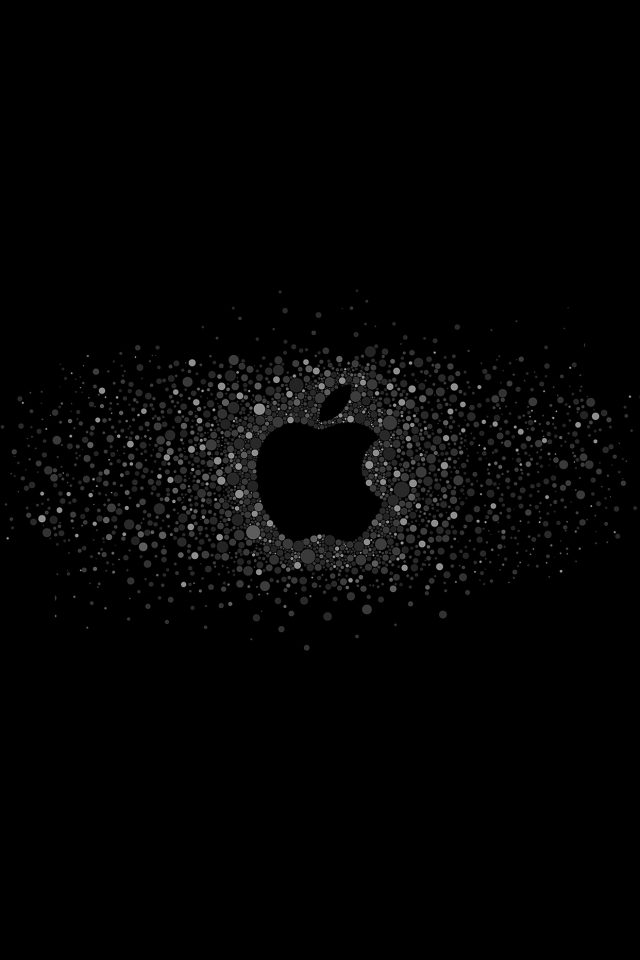 Logo Art Apple Rainbow Minimal Dark Android wallpaper