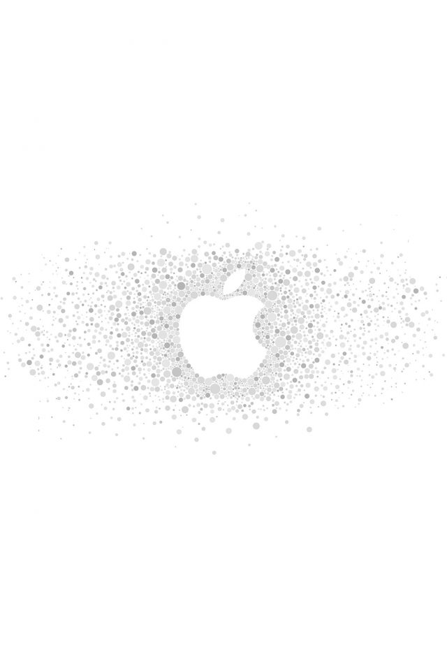 Logo Art Apple Rainbow Minimal White Android wallpaper