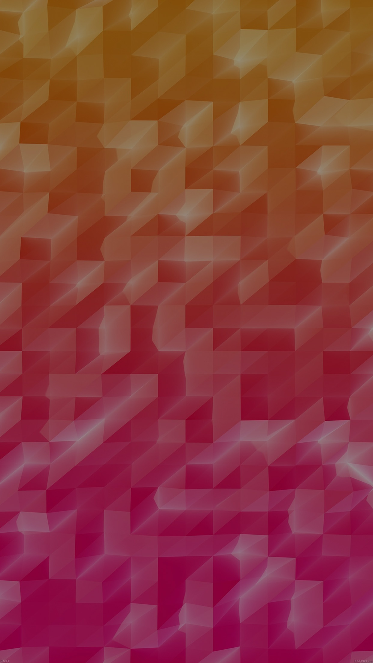 Low Poly Hot Red Abstract Fun Pattern Android wallpaper