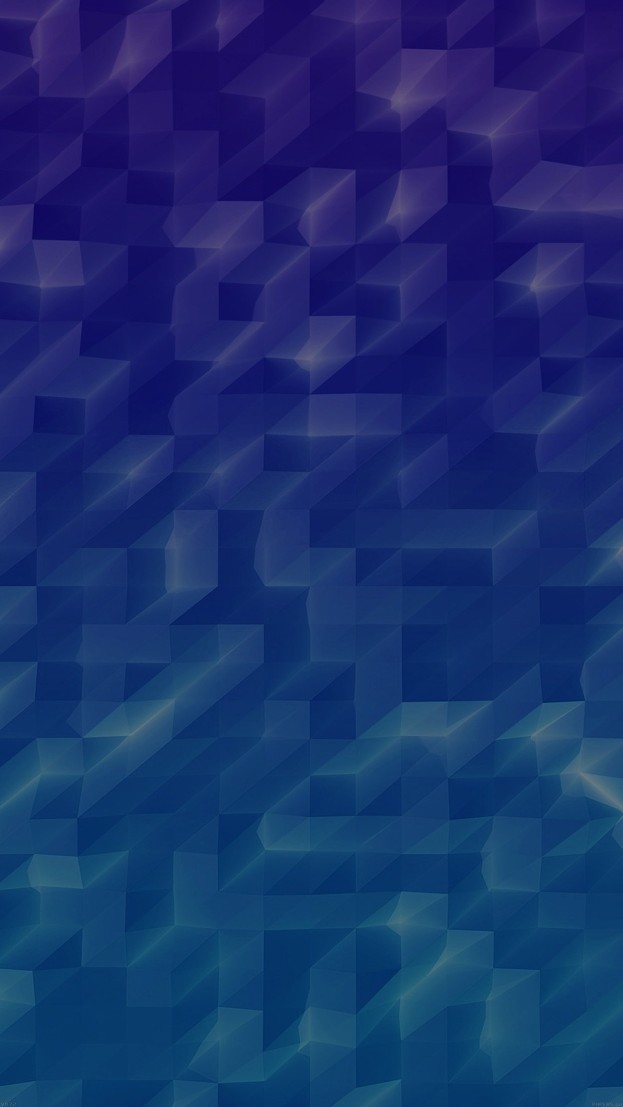 Low Poly Sea Blue Abstract Fun Pattern Android wallpaper