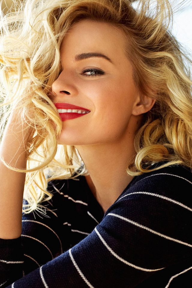 Margot Robbie Smile Celebrity Photo Android wallpaper