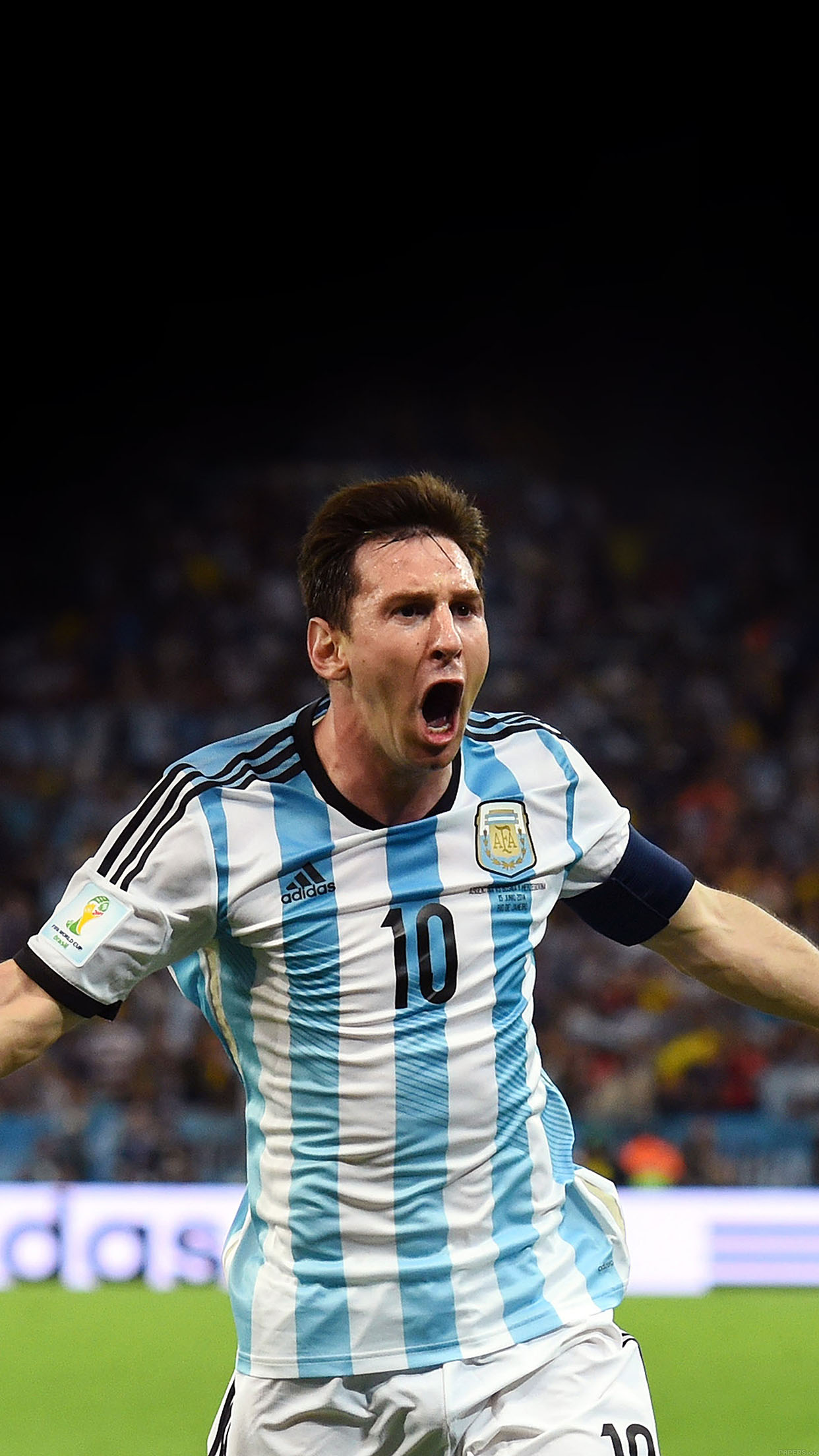 Messi Brazil Worldcup Goal Face Sports Art Android wallpaper
