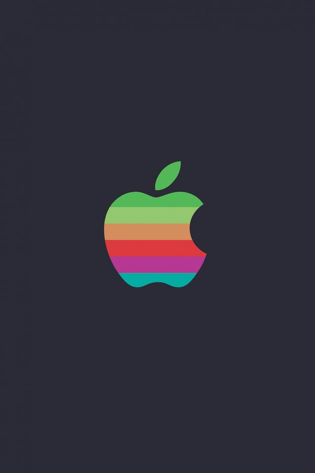Minimal Logo Apple Color Dark Illustration Art Android wallpaper
