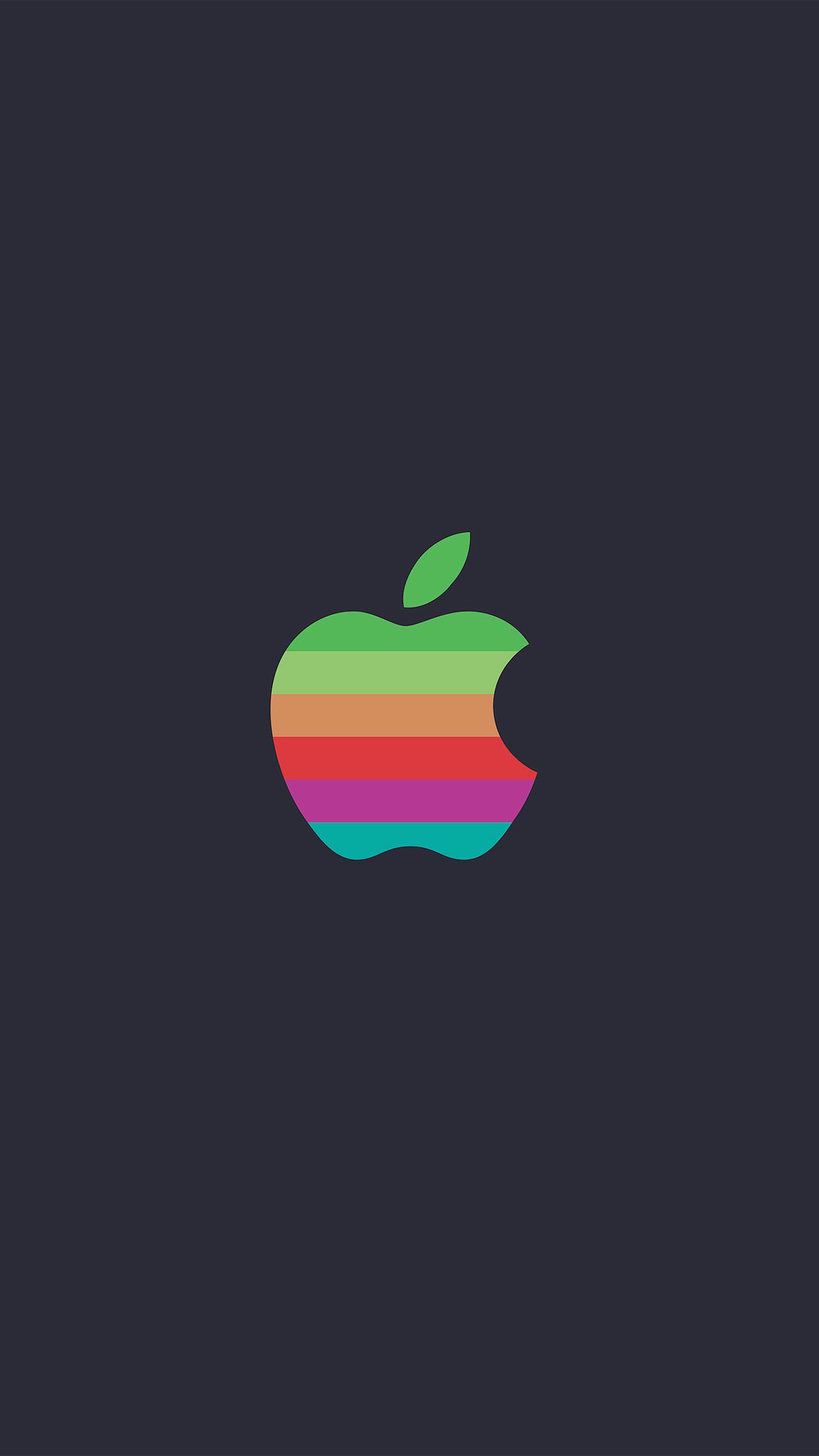 Minimal Logo Apple Color Dark Illustration Art Android Wallpaper