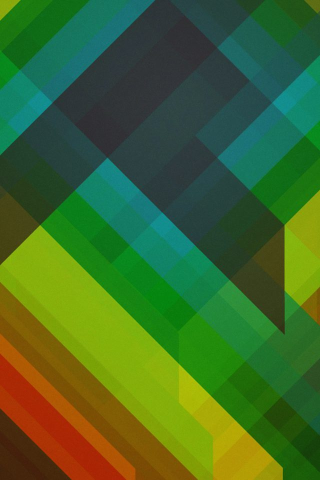 Multicolored Polygons Green Pattern Art Abstract Android wallpaper